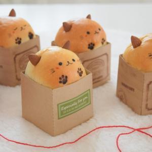 【レシピcolumn】ベーコンポテトの箱入りねこパン♡