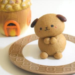 おねだりポーズのわんこパン♪黒豆パウダーとどんぐりランプ♡