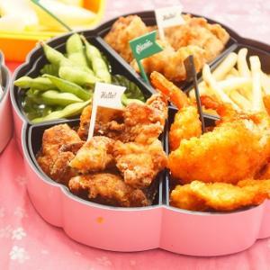 【スパイス大使】秋のお出かけ弁当♪しょうゆベース&塩ベースのマスタード風味の鶏からあげ