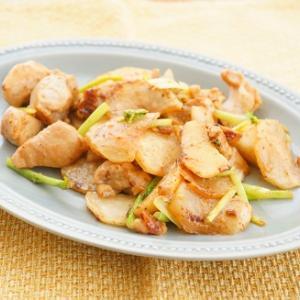 【スパイス大使】鶏肉とかぶの焦がしマヨ梅醤油ソテー
