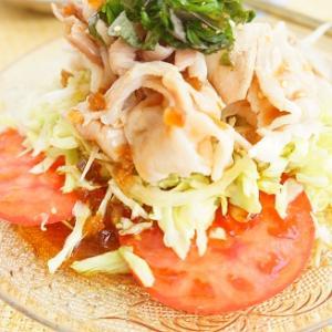 野菜がもりもり食べられる!バルサミコドレ夏野菜豚しゃぶサラダとまごわやさしい一汁三菜定食