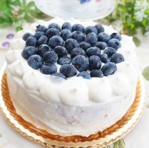 ブルーベリーいっぱいのケーキ