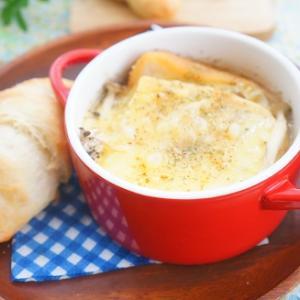 【スパイスアンバサダー】きのこのオニオングラタンスープ