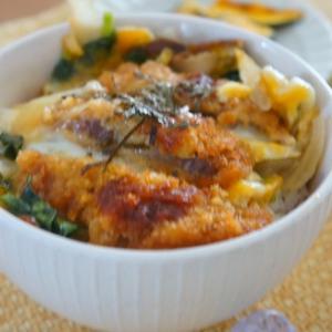 【モニター】牡蠣だし醤油でかつの卵とじ丼