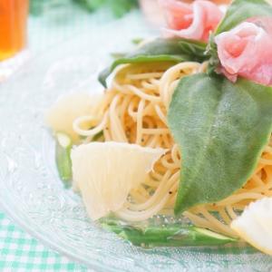 【モニター】フロリダグレープフルーツで爽やか生ハム薔薇とアスパラのペペロンチーノ