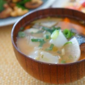 さば味噌缶のおかず味噌汁生姜風味