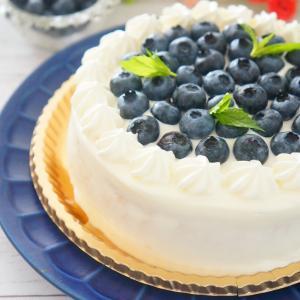 グルテンフリー♪米粉のブルーベリーデコレーションケーキ