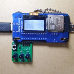 obniz で赤外線リモコンを操作させようと思ったけど躓いた