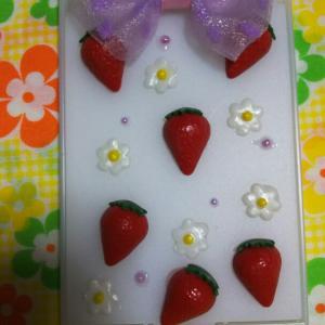 ☆苺ミラーと桜パーツ☆