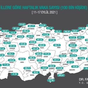 エルドーアン大統領のトルコ・アメリカ、トルコ・ロシア関係に関する発言とその雑感、県別10万人当たりKOVID-19新規感染者数、「ポスト・エルドーアン」の動き