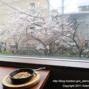 新オープン MANBeee (マンベー) 桜が見える超穴場 お昼BAR 焼きポテトサラダ
