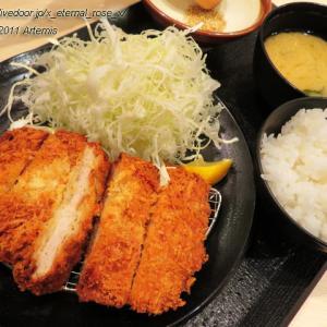 松のや 長岡天神店 厚切りロースかつ定食 牛味噌煮込みロースかつ鍋定食