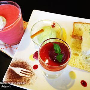 Cafe ばべの森 デザートプレート シトラスベリー スムージー 16