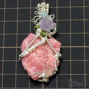 【新作】 コロンビア産インカローズ原石のペンダントトップ20200413