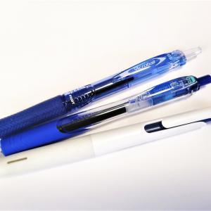 油性の青ボールペンの魅力を考える会・その5(忘れた頃にこんにちは)。
