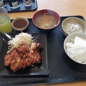 和歌山市にあるいませんという定食屋さんで鳥の山賊焼きをメインに買いました