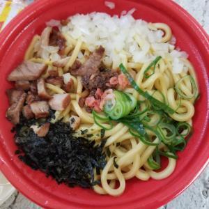 和歌山県の間川町のファミリーマートで海老まぜそば食べました