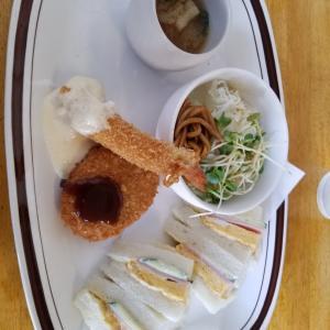 和歌山県の紀三井寺にあるノアハウスでサンドイッチのモーニング食べました