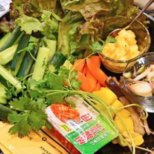 9月22日 火曜日 手巻き寿司の具材に、東海漬物のQ1乳酸菌キムチ
