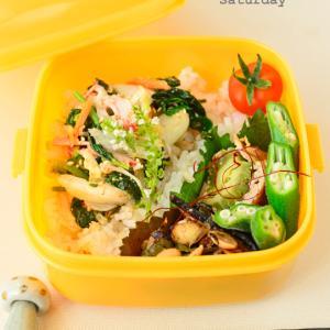 9月22日 水曜日 モロヘイヤと白菜漬けとカニカマの和え物