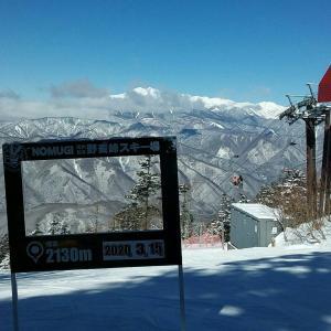 日曜日、風邪をうつしてスッキリ?またまた野麦峠スキー場へ。