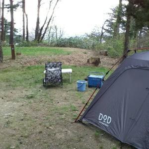 土曜日、閑乗寺公園キャンプ場でお気に入りサイト発見