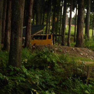 閑乗寺公園キャンプ場で雨キャン。