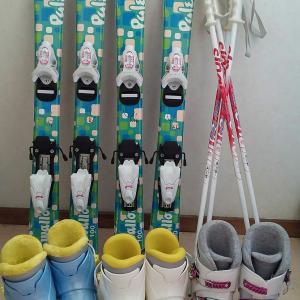 子供用スキーセット、欲しい人いないかな~。
