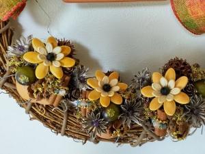 かぼちゃの種の花鉢リース