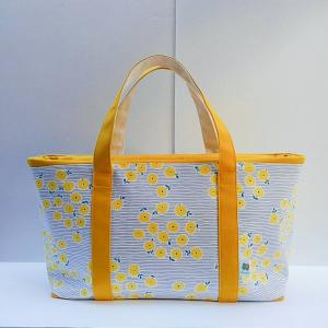 new帆布トートバッグ・たんぽぽ色の試作品