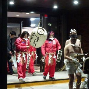 仙女のチサコ選手、岩田選手、橋本選手、岡選手が裸参りに参戦!
