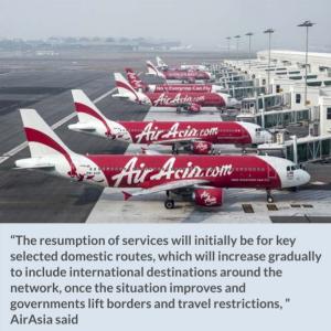 エアアジア・マレーシア国内運航再開と他社のフライト状況