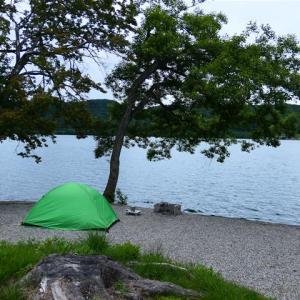 雨飾山の温泉~青木湖畔キャンプ