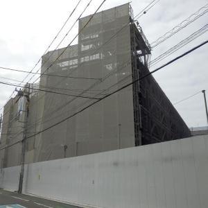 川越駅西口のホテルは、南側の建物の全体の組み立て終わり?