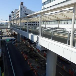 川越駅西口 歩行者用デッキも複合施設(U_PLACE)の外観もほぼ完成か