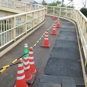 仙波跨道橋 封鎖できません!(片側通行)