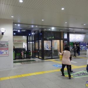 JR川越駅リニューアル中・改札の片側完成