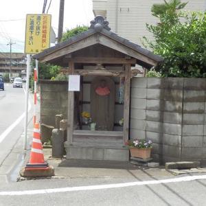 地蔵堂 祭り中止の 白き紙(入間川街道・寿町1丁目)