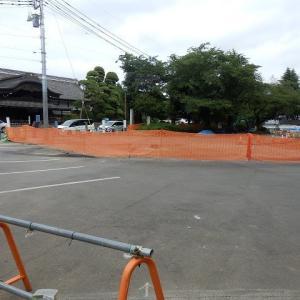 球場と御殿の間に新道路(本丸御殿前)
