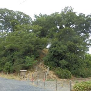 川越城富士見櫓跡の石段はまだ不通