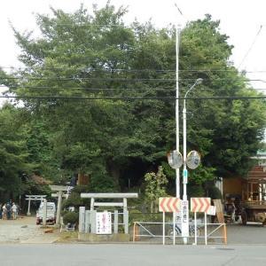 雀ノ森神社のお焚き上げ・午前中の準備
