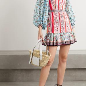剛力彩芽さん着用「アリスアンドオリビア」花柄ミックスドレス