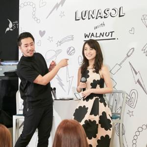 泉里香さん着用「ケイトスペード」スタンプ柄ドレス