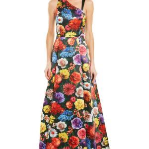 リンチーリンさん愛用「アリスアンドオリビア」花柄ロングドレス