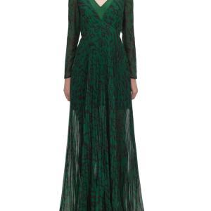 滝沢カレンさん着用「セルフポートレート」レオパード柄ロングドレス