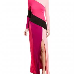75%オフ!人気司会者も愛用の個性的なカラーブロックドレス