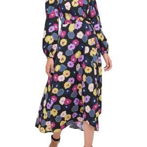 普段使いにも!「ケイトスペード」花柄ラップドレス
