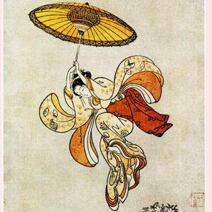 鈴木春信「清水の舞台より飛ぶ美人」が、かわいい&かっこいい!