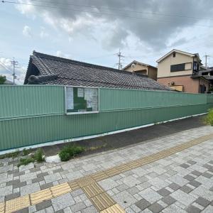 北松尾小学校付近の『防音壁改修工事』が完了。
