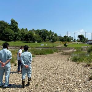 松尾川親水公園(ひつじ公園)で立会い